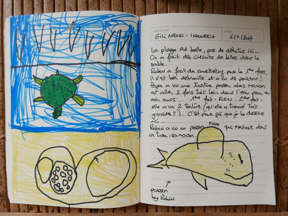 Page de gauche By Max / poiSson de droite By Robin