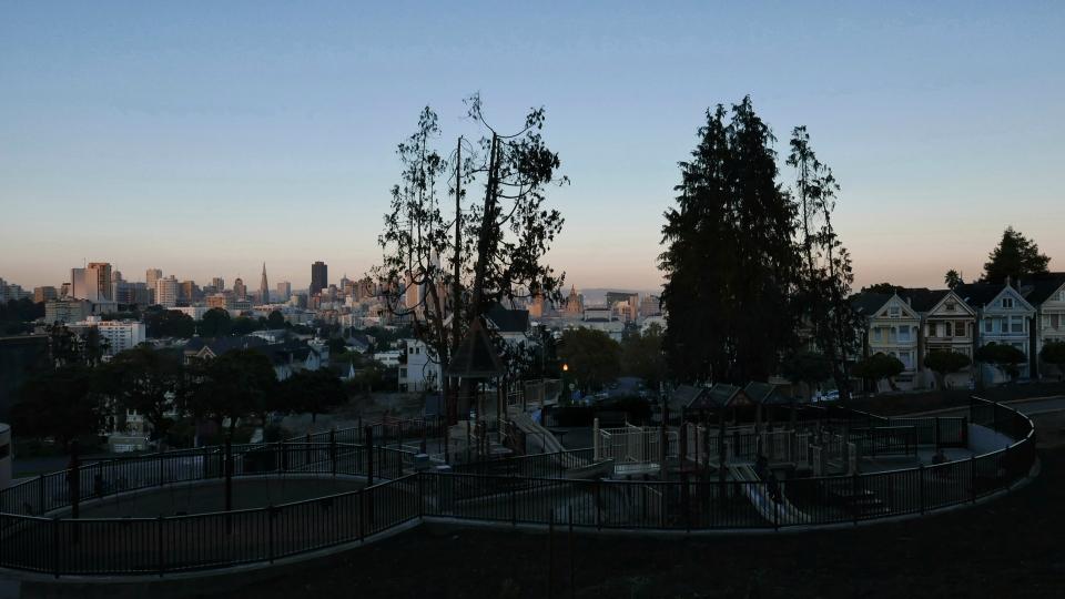 Le playground avec vue sur downtown...👌