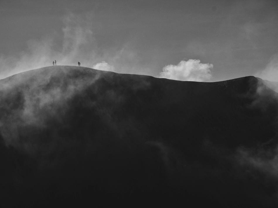 La crête du cratère