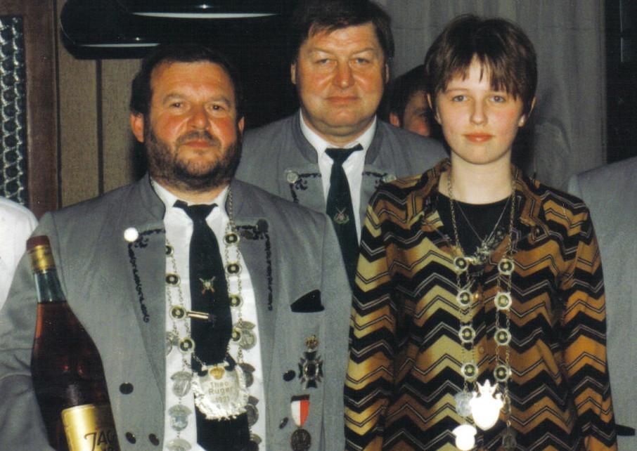 Schützenkönig 1999: Gerhard Scheler und Claudia Bätz