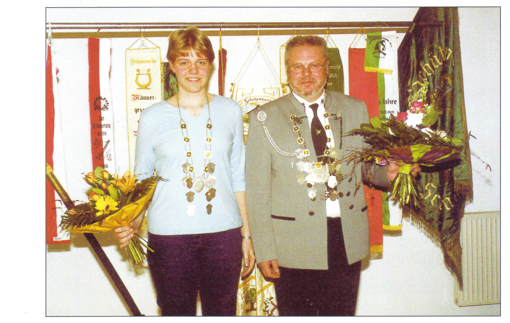 Schützenkönig 2003: Wilfried Rienecker (1.0) Jungschützenköniging: Tina Petersen