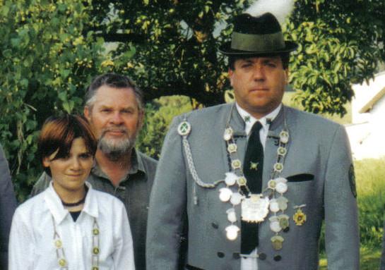 Schützenkönig 2001: Uwe Dorst und Jungschützenkönigin: Isabel Dorst