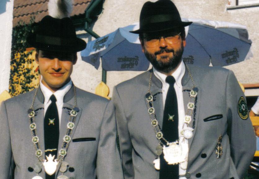 Schützenkönig 1996: Kurt Sauerteig und Jungschützenkönig Andreas Karl