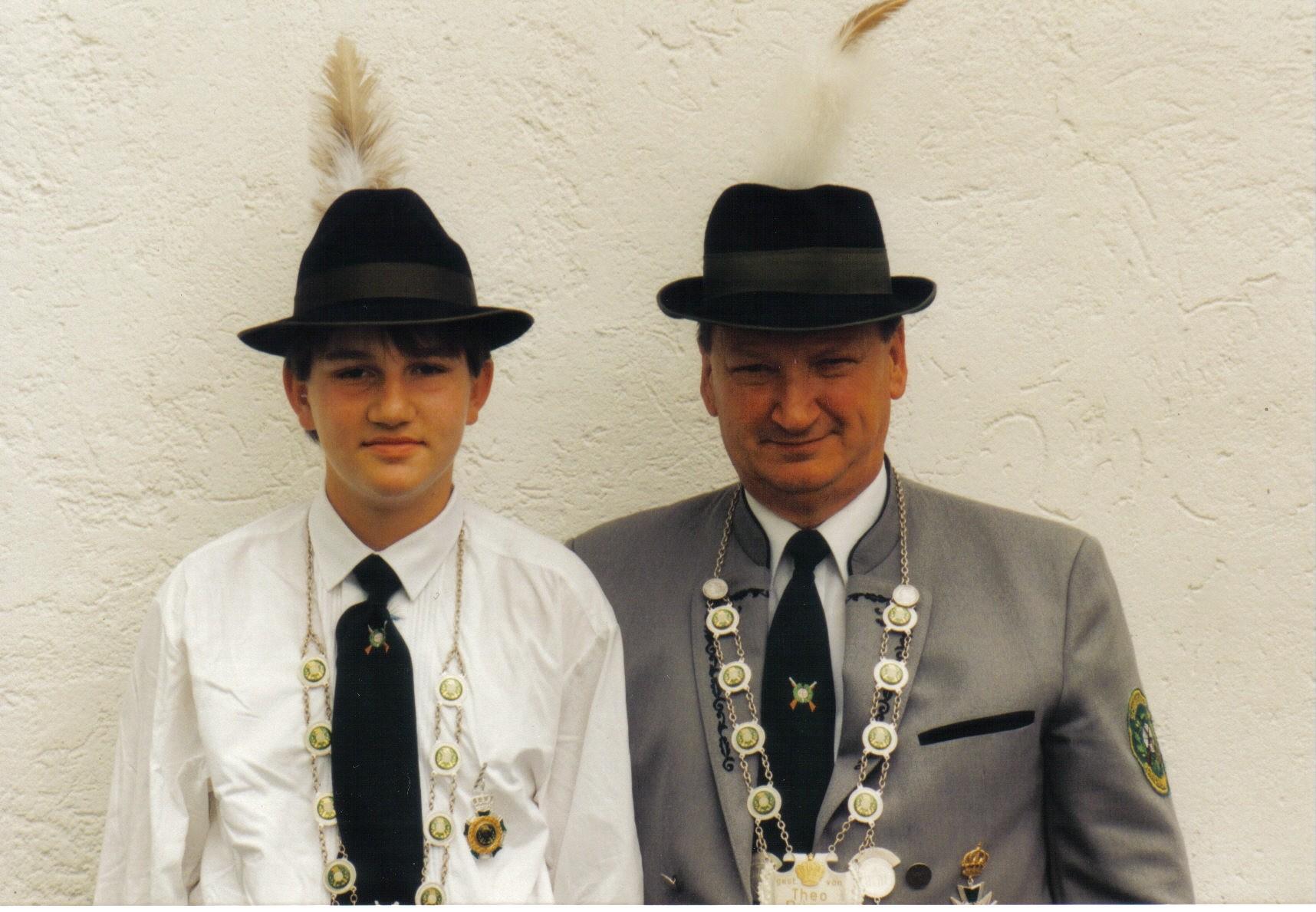 Schützenkönig 1995: Dieter Bätz und Jungschützenkönig: Alexander Meier
