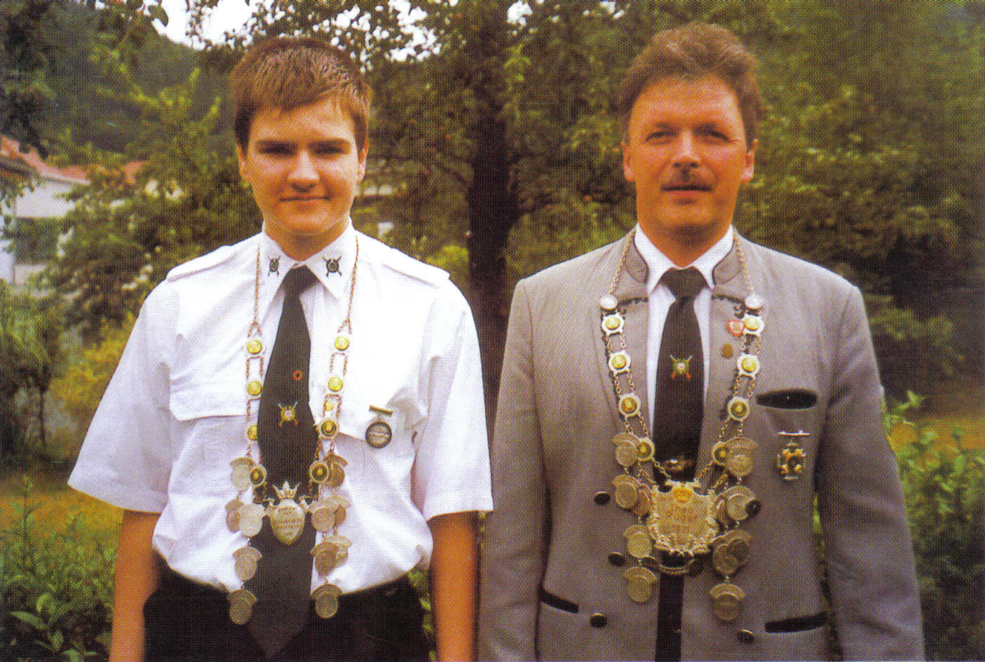 Schützenkönig 2002: Michael Tschernich und Jungschützenkönig: Steffen Heublein