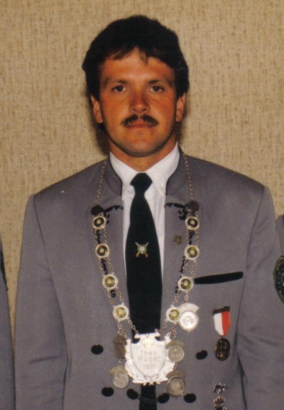 Schützenkönig 1997: Fredy Beyer