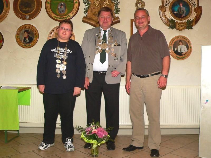 Schützenkönig 2007: Erhard Koch und Jungschützenkönig: Tobias Scheler
