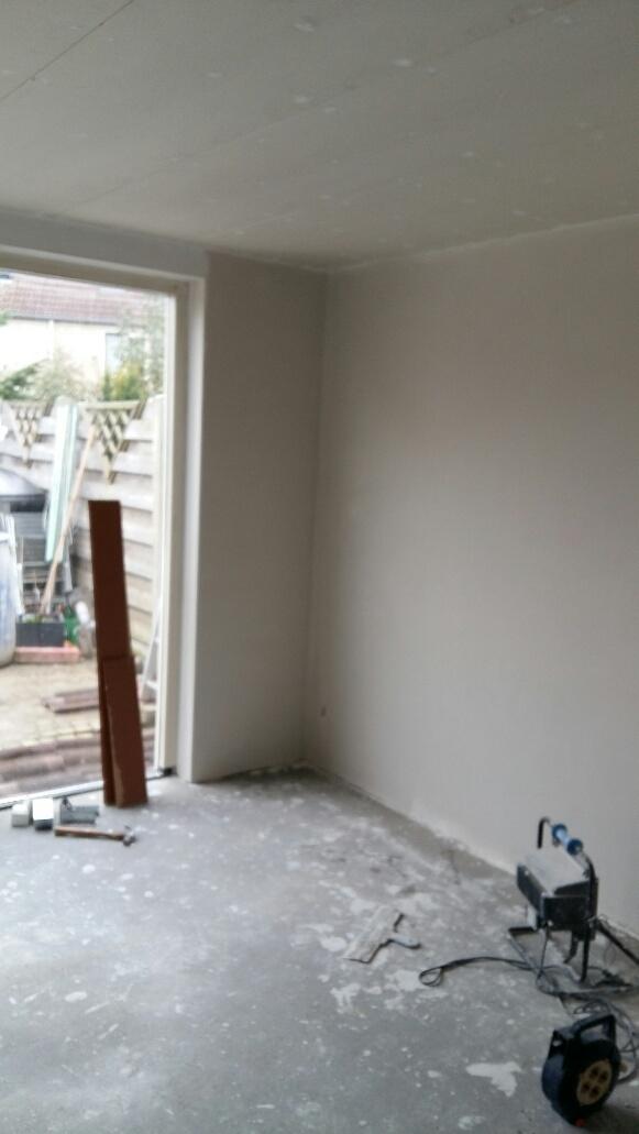 Uitbouw Deventer uitrapen met gips sausklaar