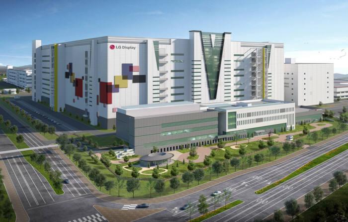 LGディスプレイ広州の第8世代OLED工場鳥瞰図(写真= ディスプレイ)