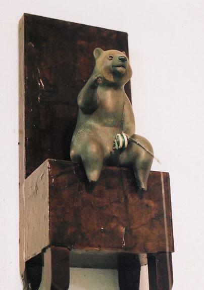 釣られ三昧の日々の中で 2007 桐塑 石塑 アクリル着彩