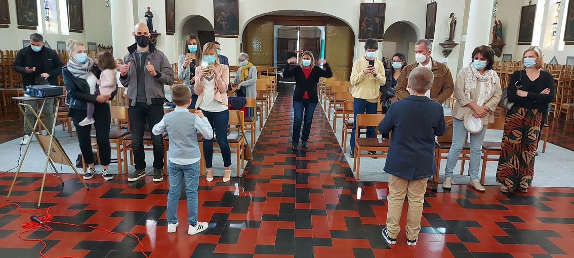 Souvenirs des baptêmes, communions et confirmations du mois de mai dans l'Unité Pastorale d'Antoing