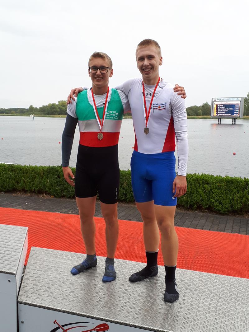 Vize-Landesmeister im JM 2x B: Jan und sein Partner Florian (RK Werder)
