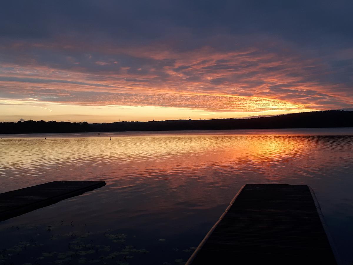 Einer der Gründe, warum Ruderer so früh aufstehen - Templiner See um 6:45 Uhr