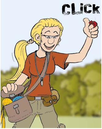 Clicino und Cartoon von Olaf