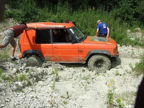 Adrien dans la boue