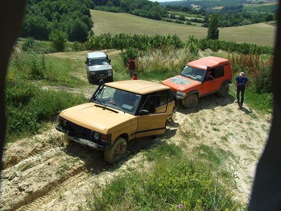 la Range Rover Classic d'Eric dans la boue