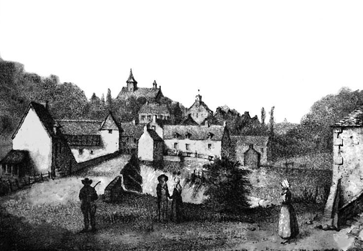 Lithographie de La Gacilly vers 1840