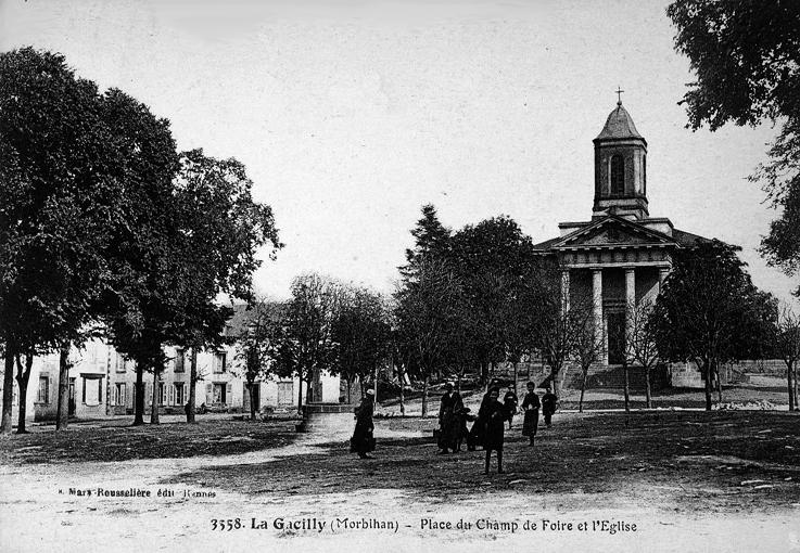 Le champ de foire et l'église (1844-1872)
