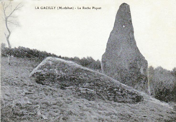 Menhir de la Roche, Piquée 5000 ans ( vers 1900)