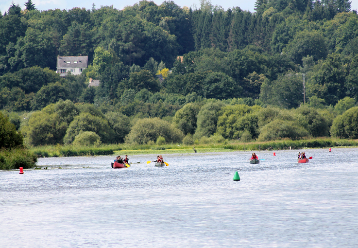kayakistes à l'entrainement