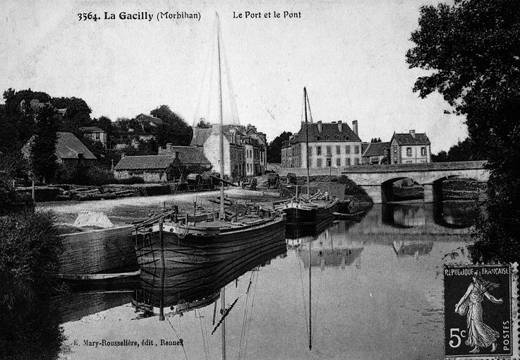 Le port de La Gacilly 1857
