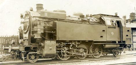 HBE-Lok Nummer 3 im Jahre 1936 (Aufnahme: Hubert, Darmstadt)