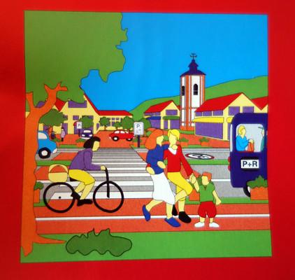Stadt Siegen | Kinderstadtplan | Vektorzeichnung | 1992