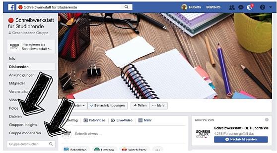 Screenshot für die Suche auf Facebook vom PC aus