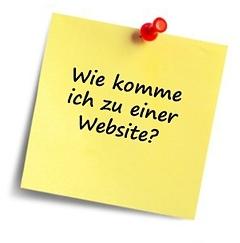 """Post-its mit der Frage Wie komme ich zu einer Website""""?"""