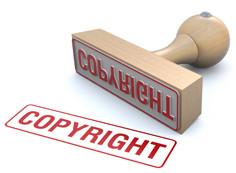 "Roter Stempel mit Aufschrift ""Copyright"""