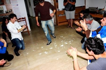 Dancing Greek traditional dances