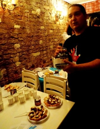 Presentation of Greek traditional products during intercultural night, where every national group presented it's country.