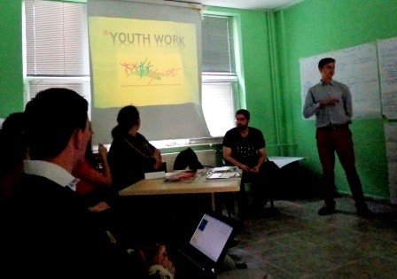 Presentation about outcomes of group work on youth work, motivation, responsibilities and innovative ideas for youth workers and trainers.