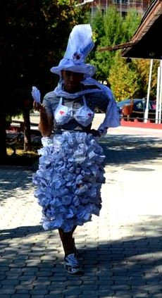 Clothes from paper - presented by Greek participant