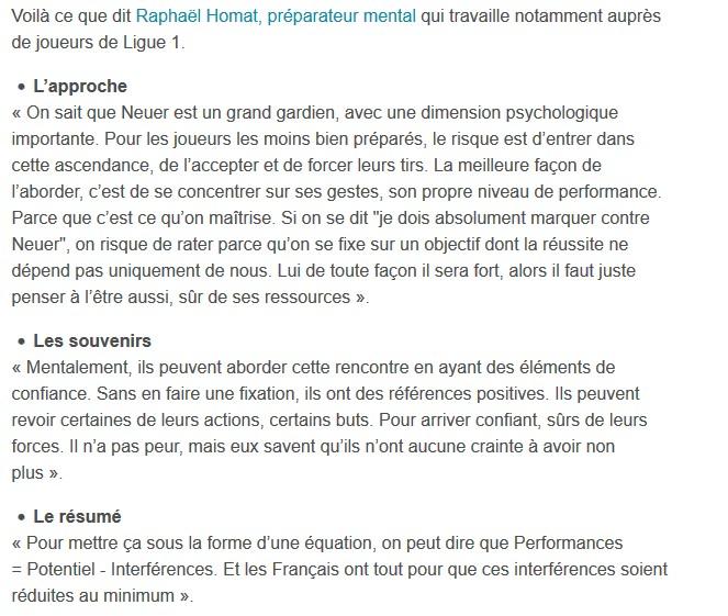Interview pour 20 min avant la 1/2 finale France - Allemagne Euro 2016