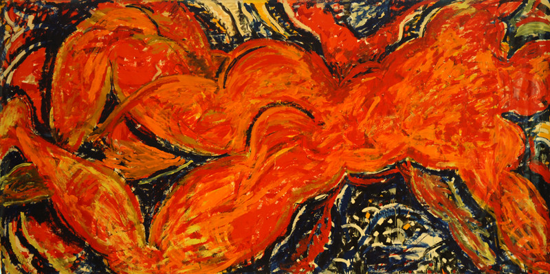 D'un Corps à l'Autre, acrylique sur toile, 4m25 x 2m20, 1995