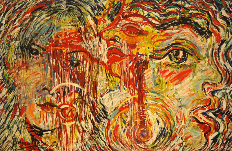 Amour et Sacrifice, acrylique sur toile, 3m30 x 2m20, 2001