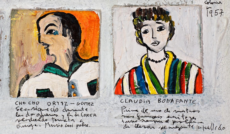 Détail 2c - Lista de Recuerdos 1942 - 1971