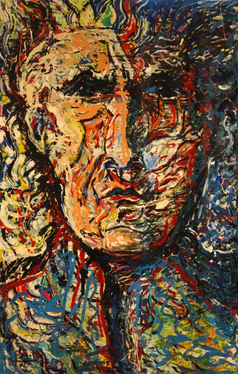 Portrait d'un Poète, acrylique sur toile, 2m20 x 3m50, 1998