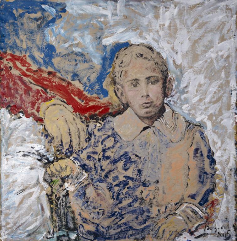 Le Regard de l'Amour, acrylique sur toile, 220 x 220 cm, 2005
