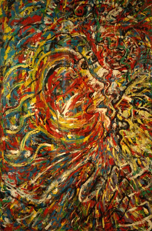 La Fête, acrylique sur toile, 2m20 x 3m50, 1992