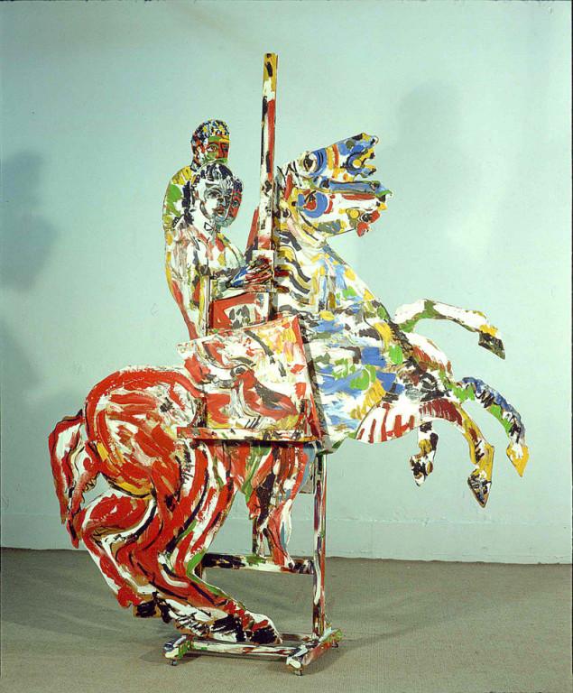 Jinete, sculpture, 1990