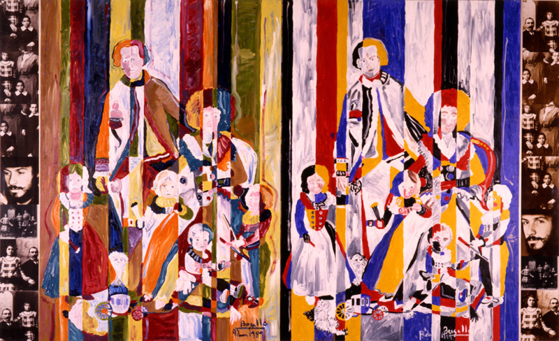 La Familia, technique mixte, 3m80 x 2m, 1989