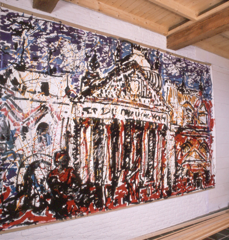 The Reichstag on Fire, acrylique sur toile, 400 x 220 cm, 1982.