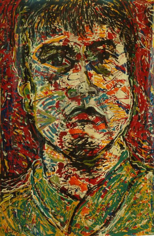 L`Entraîneur de Football, acrylique sur toile, 2m20 x 3m50, 1998