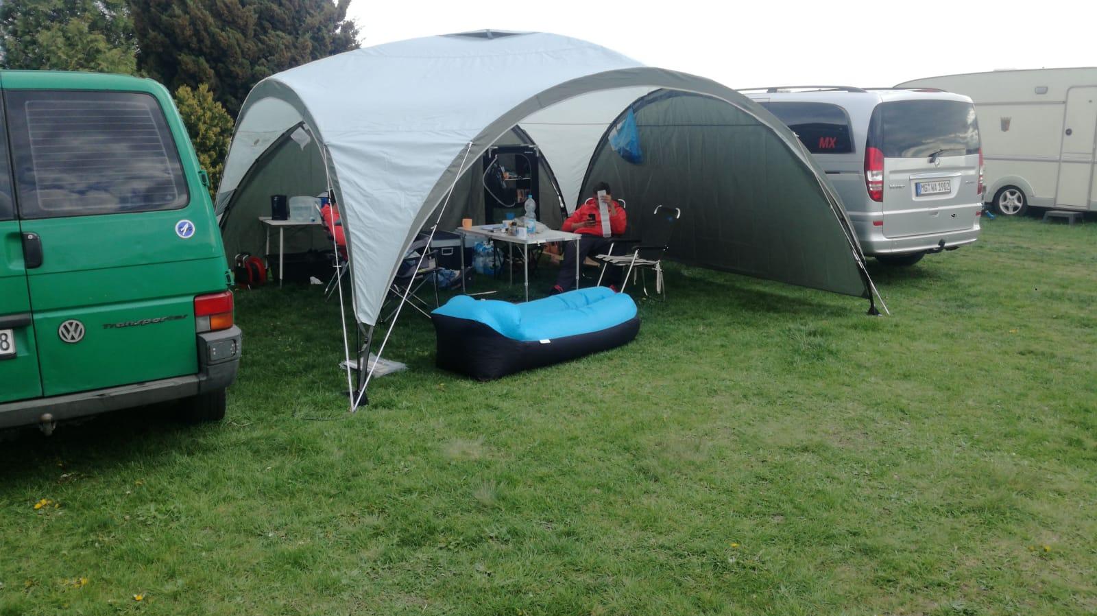 Das Camp für die nächsten zwei Wochen