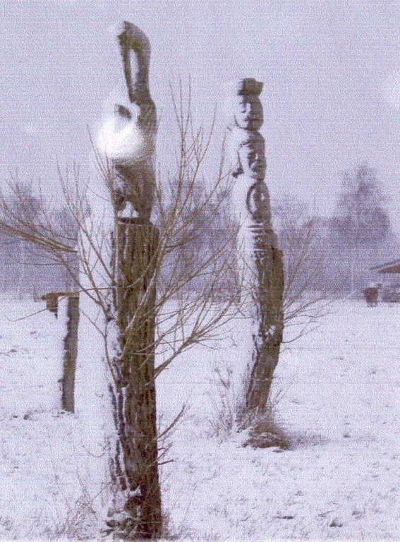 Störche v. Lii Teder, Stände v. Dezsö Szilagyi Winter 2006