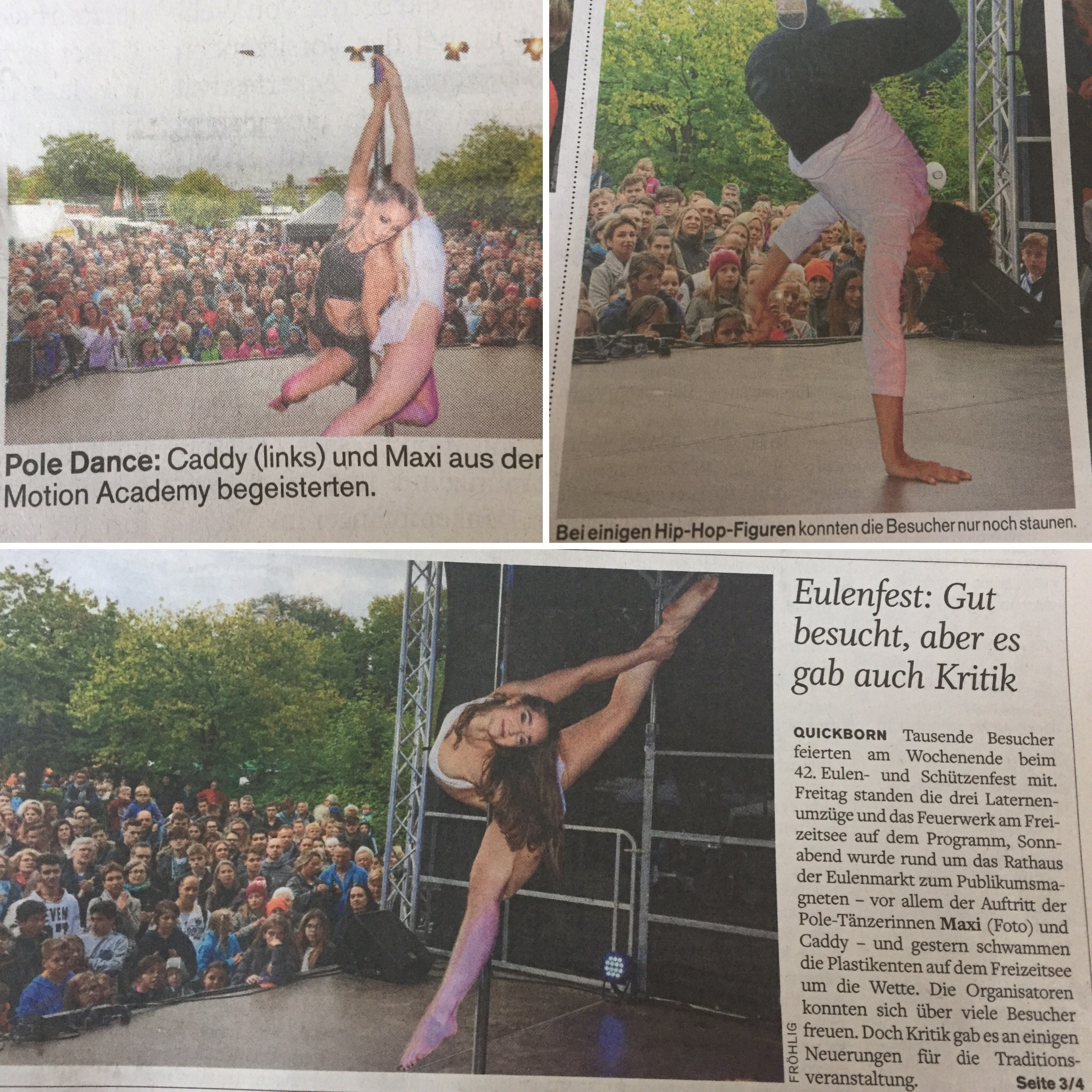 Eulenfest Quickborn am 16.09.2017 ( Zeitung: Quickborner Tageblatt vom 18.09.17)
