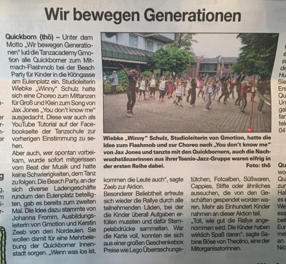 Beachparty am 01.07.2017 (Zeitung: Umschau vom 05.07.17)