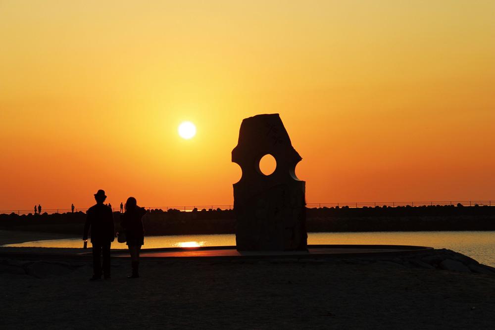 双海の夕日